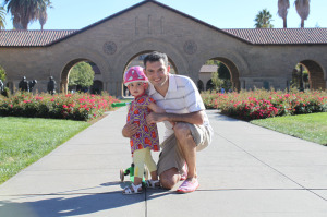 Lucia and Lamberto Ballan at Stanford